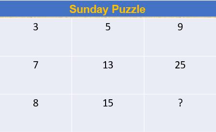 Sunday Puzzle-30.07